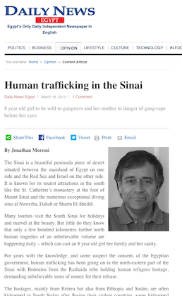 Human Trafficking in Sinai
