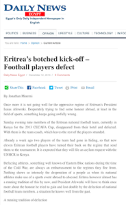Eritrea's botched kick-off