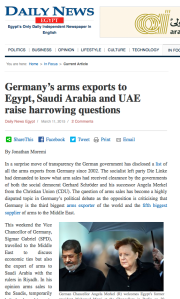 Germany's arms exports pic